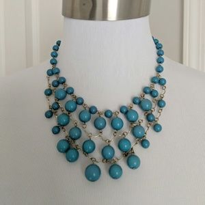 Forever 21 faux turquoise beaded necklace
